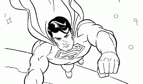 superman easy coloring pages coloring
