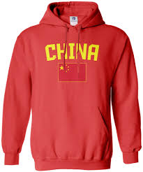 Chineses Flag Threadrock Men U0027s China Flag Hoodie Sweatshirt Chinese National