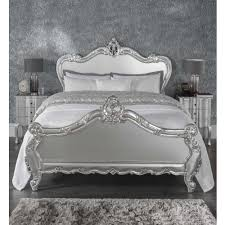 kingsize estelle silver antique french style bed half price