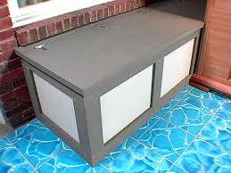 garden storage bench plans home outdoor decoration