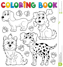 coloring book dog theme 5 royalty free stock photos image 31162448