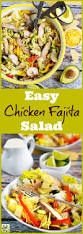how to make an easy chicken fajita salad this mama cooks on a diet