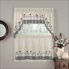 Country Plaid Curtains Sunflower Kitchen Curtains Country Kitchen Curtains With Wooden