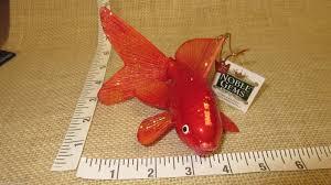 kurt adler noble gems glass goldfish ornament 5inch ebay
