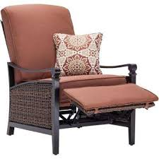reclining patio chairs patio furniture the home depot