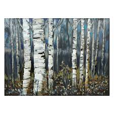 Birch Home Decor Decor Birch Trees Canvas Art On White Paint Wall For Impressive