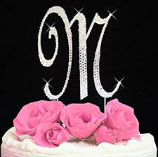 letter wedding cake toppers letter m swarovski monogram wedding cake