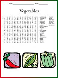printable hard word games your kids will love this free vegetable word search give a like