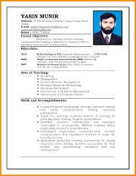 Fill In The Blank Resume 5 Cv Pattern For Job Fillin Resume