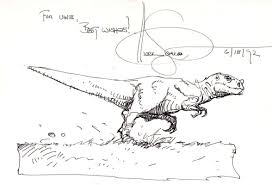 dinosaur sketch by mark schultz in uwe reber u0027s sketches comic art
