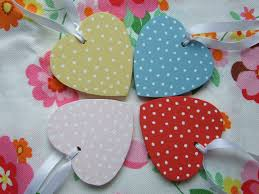 Heart Decorations For The Home Polka Dot Wooden Hearts The Blueberry Patch