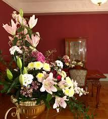 floral arrangements in the interiors of the villa vila stiassni