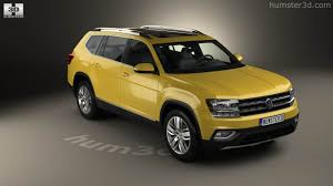 volkswagen van 2018 360 view of volkswagen atlas sel 2018 3d model hum3d store
