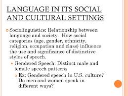 Language Setting Pattern Used In Society | language language a system of symbolic communication using sounds