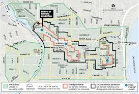 map of philly map security zones for pope s visit