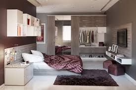 Built In Cabinet Designs Bedroom by Bedroom White Platform Bed With Cabinet Also Gray Mattress Plus