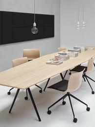 Arper Logo by Contemporary Boardroom Table Wooden Glass Fenix Ntm Meety