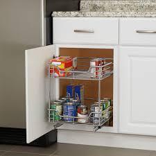 Under Cabinet Sliding Shelves 2 Tier 14 5 Inch Glidez Sliding Under Cabinet Organizer Chrome
