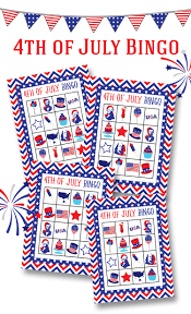 free 4th of july bingo printable lil u0027 luna