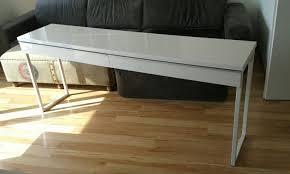 Schreibtisch Hochglanz Gebraucht Ikea Bestå Burs Schreibtisch Hochglanz Weiß In 4701 Bad