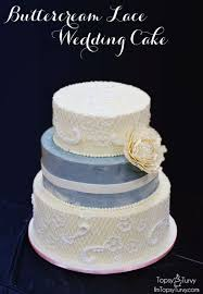 buttercream lace wedding cake ashlee marie