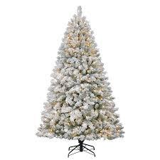 holiday living 7 ft weston fir flocked pre lit artificial