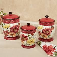 furniture white ceramic annabel kitchen canister sets with caddy le fleur poppies kitchen canister sets made of ceramic for kitchen accessories ideas