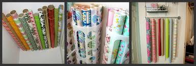 Organize Gift Wrap - organize it a little tipsy