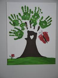 keepsakes made with the whole family u0027s handprints or footprints