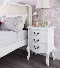 french furniture stunning white bedside table chest of drawers