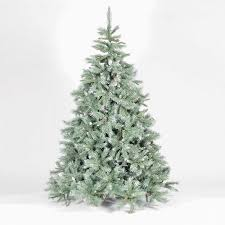 frosted christmas tree emerald fir blue green artificial christmas tree