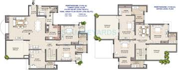 Pent House Floor Plan by 5 Bhk 3387 Sq Ft Penthouse For Sale In Vipul Greens At Rs 9800 0