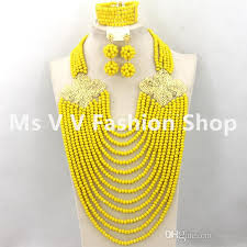 indian bead jewelry necklace images 2018 african necklace sets 18k gold plated classy yellow choker jpg