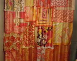 Pink And Orange Curtains Pink Orange Curtains Etsy