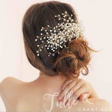 bridal hair combs rosegold wedding bridal hair comb twahp047