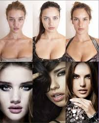 this image is really important in realising that even the most beautiful female models look a