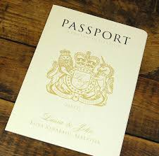 passport to booklet travel wedding invitation by ditsy chic