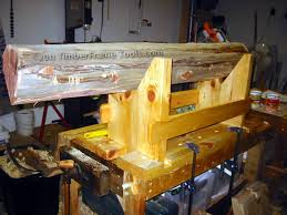 Log Saw Bench Timber Frame Tools New Fangled Saw Bench