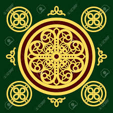 golden christian orthodox ornament royalty free cliparts vectors