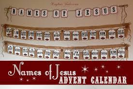 names of jesus advent calendar and pack kaylene yoder