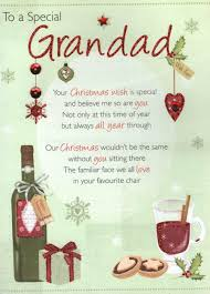 to a special grandad christmas greeting card cards love kates