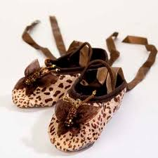 kamara designs butterfly organza leopard ballet slippers