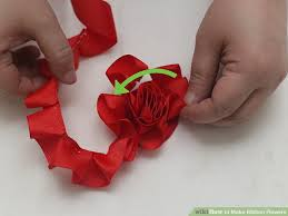 ribbon flowers 4 ways to make ribbon flowers wikihow