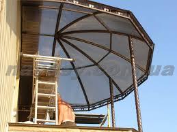 balcony canopy polycarbonate poligal mm bronze 8 buy in kiev