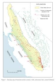Sierra Nevada Mountains Map The Surface Of Crystalline Basement Great Valley And Sierra