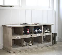 our new spruce wood shoe storage locker will add a rustic touch to