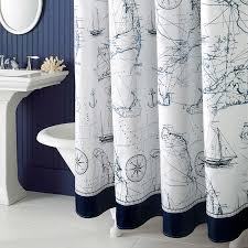 Shower Curtain Custom Mediterranean Polyester Sailboat Shower Curtain Waterproof Mildew