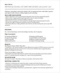 curriculum vitae templates pdf 10 internship curriculum vitae templates 10 free word pdf