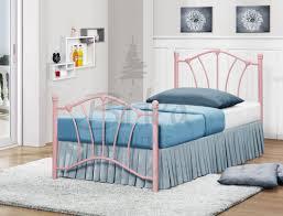 Modern Metal Bed Frame Bedroom Furniture Single Bed Metal Bed Post Silver Metal Bed