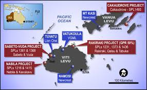 Map Of Fiji Fijian Gold Projects Geopacific Resources Limited